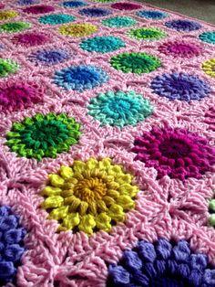 Sunburst Flower Blanket - Join as You Go