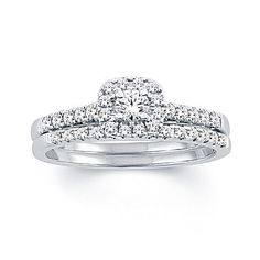 FREE SHIPPING AVAILABLE! Buy Womens 1/2 CT. T.W. White Diamond 10K Gold Bridal Set at JCPenney.com today and enjoy great savings.