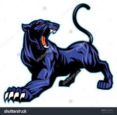 stock-vector-black-panther-mascot-159988682.jpg (1500×1478)