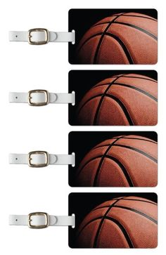 Tag Crazy Basketball Premium Luggage Tags Set Of Four Orange One Size -- Details can be found by clicking on the image.Note:It is affiliate link to Amazon.