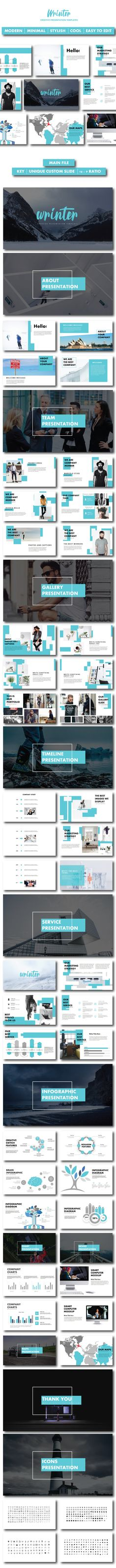 Wrinter Creative PowerPoint Templates Creative Presentation by CreatorTemplate. Powerpoint Free, Professional Powerpoint Templates, Creative Powerpoint Templates, Typography Design, Branding Design, Entrepreneur, Art Design, Graphic Design, Presentation Templates