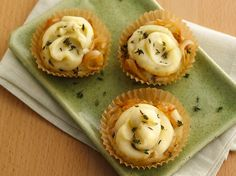 Caramelized Onion-Stuffed Potato Cupcakes These fun little potato cupcakes make a cute addition to any dinner plate!