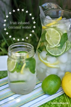 Fruit Infused Coconut Water Recipe :: perfect pairing with Life Choice Bars #BarNutrition #shop #cbias