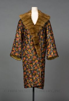 Evening coat | 1926 | silk & lamé brocade, mink | FIDM Museum | Museum #: S2004.823.15