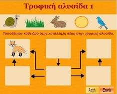 Οι μαθητές φτιάχνουν τροφικές αλυσίδες με τους οργανισμούς που παρουσιάζονται. Greek Language, Cyprus, Kindergarten, School, Nature, Cotton, Kids, Young Children, Naturaleza