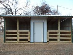 Nice run in or stalls with storage for feed or tack.