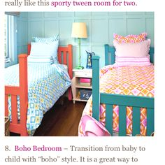 "Another pinner wrote"" Shared bedroom for kids-this color theme might work."" (I agree...my future lake house.)"