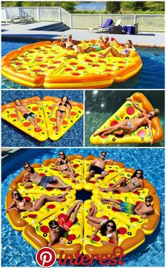 Pizza Pool Float Who Wants a Slice Who wants a slice? The Pizza Pool Float is the ultimate pool float for your next pool party. Eight delectable and detachable pizza slices. The post Pizza Pool Float Who Wants a Slice appeared first on Summer Diy. Summer Pool, Summer Fun, Summer Time, Pool Fun, Pizza Pool Float, Sommer Pool Party, Cool Pool Floats, Dream Pools, Pool Toys