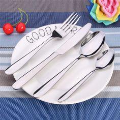 Dinnerware Set Quality Dinnerware Food Grade Stainless Steel Cutlery Set Knife Fork S Tea S Family Tableware Gift