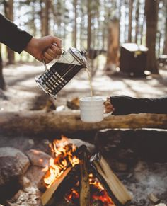 Coffee tastes better in the open mountain air!