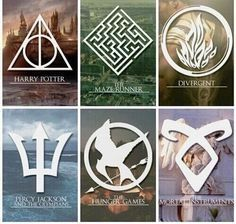 Harry Potter   The Maze Runner   Divergent   Percy Jackson   The Hunger Games   The Mortal Instruments