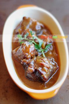 Ox Tail in wine sauce