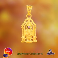 Auspicious Vishu pendant that spreads the optimistic and hopeful divine thoughts... For more collections visit - www.lalithaajewellery.com