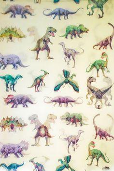 Pastel Dinosaur Pattern