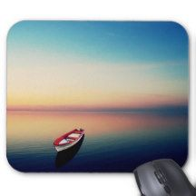 Boat on a Lake Mouse Pad