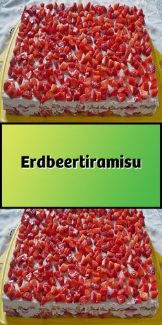 Erdbeertiramisu Zutaten 500 g Erdbeeren 3 EL Zucker 250 g Mascarpone 250 g Magerquark 1 EL Zitronensaft 1 Pck. Vanillezucker 100 g Löffelbisku… Related posts:This Vegan Teenager Turns His Food Into Stunning Artleckere,. Easy Chocolate Desserts, Chocolate Cake Recipe Easy, Quick Dessert Recipes, Easy Cake Recipes, Strawberry Tiramisu, Strawberry Desserts, Nutella Muffins, Tiramisu Dessert, Winter Desserts