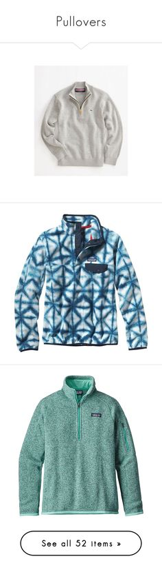 """Pullovers"" by bowhunter1498702 ❤ liked on Polyvore featuring tops, sweaters, jackets, pullovers, shirts, patagonia, navy blue, blue pullover sweater, patagonia sweater and lightweight fleece pullover"
