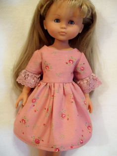 Corolle Les Cheries Doll Clothes, Flower print Dress, fits 13-14inch Dolls, Hearts for Hearts
