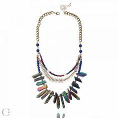 Blue Lagoon Statement Necklace Blue Lagoon, Statement Jewelry, Turquoise Necklace, Jewelry Accessories, Beauty, Beleza, Cosmetology