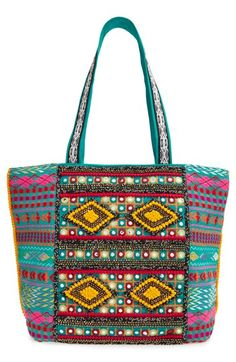 Big Buddha Bead Embellished Tote available at #Nordstrom in BLACK $90