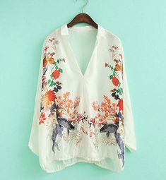 Lost in Kyoto collection Japanese spring white sheer floral fish kimono shirt robe outwear on Etsy, $61.45 CAD