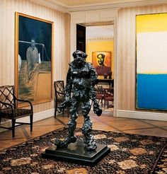 I wanted it to be young and modern architect Peter Marino says of a Manhattan apartment. Big Wall Art, Wall Art Decor, Room Decor, Willem De Kooning, Mark Rothko, Large Painting, Abstract Wall Art, Wall Art Designs, Unique Art