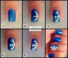 Snowflakes nailpolish tutorial