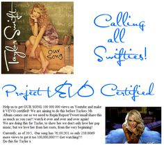 REPIN EVERYWHERE AND ANYWHERE!! AND WATCH AS MUCH AS YOU CAN!!!!! WE WANT TO GET TIM McGRAW AND OUR SONG VEVO CERTIFIED SO GET WATCHING!!!!!!!!! FOR YOUR FRIENDS TO WATCH IT, YOUR FAMILY, YOUR FOLLOWERS ON PINTEREST!!! DO THIS FOR TAYLOR! X  before you re pin this, please watch it 5 times minimum, and then refresh the page and change this view number to the new one :)  76,189,794 views
