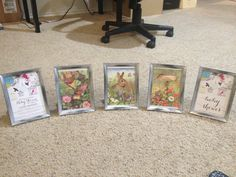 Framed story book pages and invitation