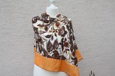 #Poncho #Sommerponcho #Gabardine #Baumwolle #Blumen #Schal #Blätter #braun #orange #Reisen #Loop #Strandmode   Passend zu meinen Soloops (Sommerloops) und Roloops (Romantikloops) gibt es jetzt...