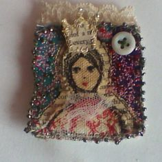 Princess brooch by Shirlee McGuire