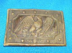 EARLY U.S. CIVIL WAR 1830 EAGLE OFFICERS BRASS BELT BUCKLE. - Accoutrements and Smalls - Vin Caponi Historic Antiques