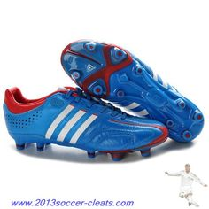 new style fb75a 8e345 Authentic adidas adipure 11Pro TRX FG MiCoach Blue White Red For Sale Nike  Soccer Shoes,