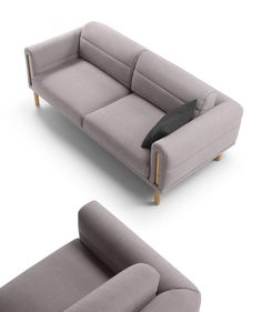 Cozy gray sectional with blanket style upholstery that makes it ideal for lounching