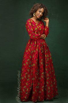 Kiki maxi africaine robe africaine maxi Long par Habbystitches
