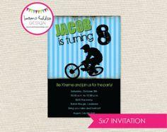 BMX Bike Party Invitation Printable by InviteMe2Party on Etsy