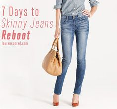 7 Days to Skinny Jeans - Loren Conrad Fitness Diet, Fitness Motivation, Health Fitness, Fitness Plan, Health Goals, Health And Wellness, Health Tips, Get Skinny, Skinny Jeans