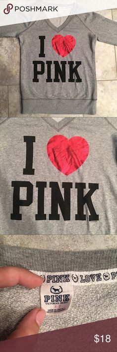 Victoria's Secret Sweater Victoria's Secret Sweater: -Grey, Black, Red -Size: Small -Only wore once -In great condition  -Very comfortable!!  Any questions, just ask!! 💞💞💞 ***MAKE AN OFFER!!*** PINK Victoria's Secret Tops Sweatshirts & Hoodies