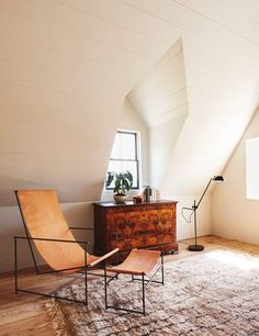 Go inside the inspired home of Hawkins New York founders Paul Denoly and Nick Blaine, and see how they revived an century farmhouse in Hudson, NY, into a modern escape. For more, check out the Domino 2016 issue. Decor, Furniture, House Design, Home Accessories, Home, Living Spaces, Interior Design, Brown Living Room, Furnishings