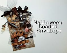 Vintage Halloween Loaded Envelope