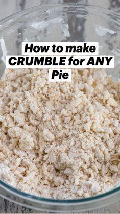 Apple Recipes, Sweet Recipes, Baking Recipes, Cake Recipes, Baking Tips, Healthy Recipes, Pie Crust Recipes, Pie Pastry Recipe, Pie Dough Recipe