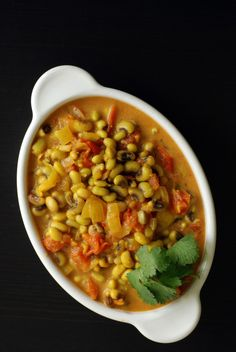 Perfect for New Year's Day: Goan-Inspired Black Eyed Pea Curry with Coconut Milk