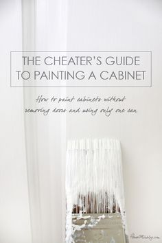 The cheater's guide to painting a cabinet: How to paint cabinets without removing doors and using one can