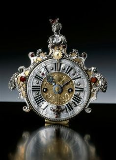 pictures of clocks and watches | Clocks and Watches / Table clock, Brown, John George (maker) Augsburg ...