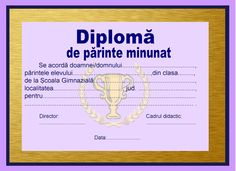 Diplomă Preschool Graduation, My Job, 8 Martie, Classroom, Blog, Students, English, Sweet, Artist
