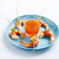 Scampi med skinke(tapas) oppskrift -- www.matoppskrift.no