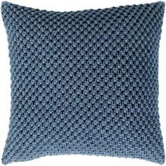 Shop for Kennet Crochet Denim Down or Poly Filled Throw Pillow 20 inch. Get free shipping at Overstock.com - Your Online Home Decor Outlet Store! Get 5% in rewards with Club O! - 24234627