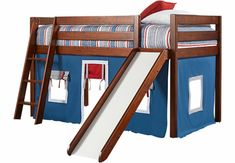 jungen etagenbett massiv mit weißer schräger rutsche Loft, Bed, Furniture, Home Decor, Boys, Ideas, Decoration Home, Room Decor, Lofts