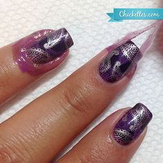Liquid Palisade for easy nail art stamping clean-up! Chickettes.com