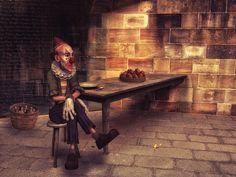 Clown, Einsam, Verlassen, Traurig, Fantasie, Phantasie